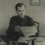 My father during the Great Patriotic War (World War II) reading Pravda, 1943