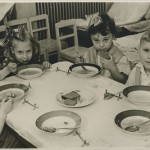 Lunch in my Leningrad nursery school (I am second from the right), 1959