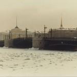Palace Bridge across the frozen Neva. Leningrad, 1985