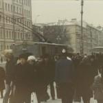 Nevsky Prospekt in the winter. Leningrad, 1985