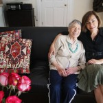 With my mother in Ridgewood, New Jersey, 2010