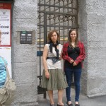 With my daughter in front of my apartment building, St. Petersburg, 2010I
