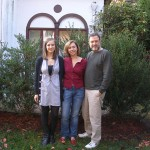 With my husband and daughter in Ridgewood, New Jersey, 2009